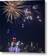 4th Of July Fireworks Metal Print by Eduard Moldoveanu
