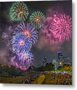 4th Of July In Houston Texas Metal Print by Micah Goff
