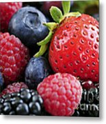 Assorted Fresh Berries Metal Print by Elena Elisseeva