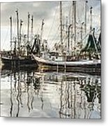 Bayou Labatre' Al Shrimp Boat Reflections Metal Print by Jay Blackburn