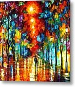 Night Park Metal Print by Leonid Afremov