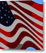 50 Star American Flag Closeup Abstract 6 Metal Print by L Brown