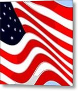 50 Star American Flag Closeup Abstract 8 Metal Print by L Brown