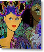 509 - The Colours Of A Summer Night B . Metal Print by Irmgard Schoendorf Welch