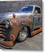 52 Chevy Truck Metal Print by Debra and Dave Vanderlaan