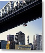 59th Street Tram - Nyc Metal Print by Linda  Parker