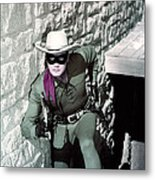 Clayton Moore In The Lone Ranger  Metal Print by Silver Screen
