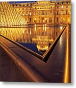 Musee Du Louvre Metal Print by Brian Jannsen