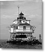 Thomas Point Shoal Lighthouse Metal Print by Skip Willits