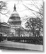 63rd Infantry Ready In Dc Metal Print by Underwood Archives