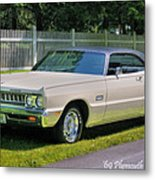 '69 Plymouth Sport Fury Metal Print by Thomas Schoeller