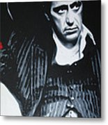Scarface Metal Print by Luis Ludzska