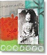 Namaste Metal Print by Linda Woods