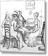 Scene From Pride And Prejudice By Jane Austen Metal Print by Hugh Thomson