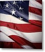 Usa Flag Metal Print by Les Cunliffe