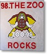 98.the Zoo Rocks Metal Print by Donna Wilson