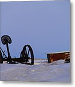 A Bath After Harvest Metal Print by Jeff Swan