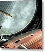 A Classic Pairing Digital Guitar And Banjo Art By Steven Langston Metal Print by Steven Lebron Langston