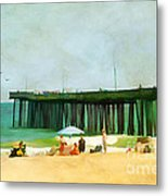A Day At The Beach Metal Print by Darren Fisher