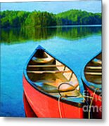 A Day On The Lake Metal Print by Darren Fisher