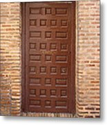 A Door In Toledo Metal Print by Roberto Alamino