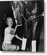 A Dragon Killer Horse Racing Vintage Metal Print by Retro Images Archive