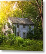 A Fading Memory One Summer Morning - Abandoned House In The Woods Metal Print by Gary Heller