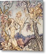 A Fairy Song From A Midsummer Nights Dream Metal Print by Arthur Rackham