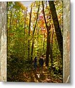 A Fall Walk With My Best Friend Metal Print by Sandi OReilly