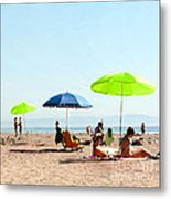A Fine Day At The Beach Metal Print by Artist and Photographer Laura Wrede