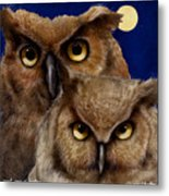 A Great Pair Of Hooters... Metal Print by Will Bullas