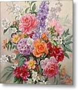 A High Summer Bouquet Metal Print by Albert Williams