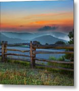 A New Beginning - Blue Ridge Parkway Sunrise I Metal Print by Dan Carmichael