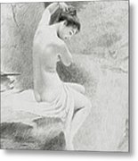A Nymph Metal Print by Charles Prosper Sainton