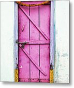 A Pink Door Metal Print by Tim Gainey