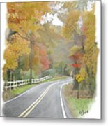 A Quiet Country Road Metal Print by Bill Losey