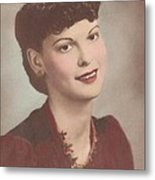 A Real Lady Metal Print by Donna Wilson