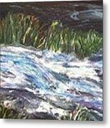 A River Runs Through Metal Print by Sherry Harradence