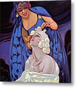 A Spanish Hairdresser Metal Print by Vila