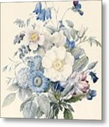 A Spray Of Summer Flowers Metal Print by Louise D Orleans