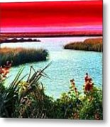 A Sunset Crimsoned Metal Print by Julie Dant