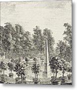 A View Of The Orangery Metal Print by Pieter Andreas Rysbrack