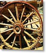 A Wagon Wheel Metal Print by Jeff Swan