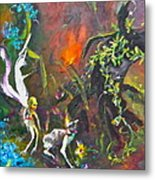 A Walk Through The Forest Metal Print by Michelle Dommer