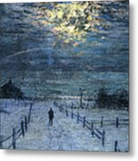 A Wintry Walk Metal Print by Lowell Birge Harrison