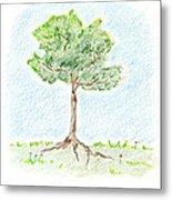 A Young Tree Metal Print by Keiko Katsuta