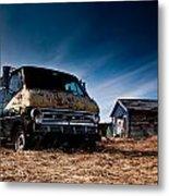 Abandoned Ford Van Metal Print by Cale Best