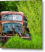 Abandoned Truck In Rural Michigan Metal Print by Adam Romanowicz