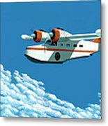 Above It All  The Grumman Goose Metal Print by Gary Giacomelli