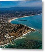 Above Santa Cruz California Looking East Metal Print by Randy Straka